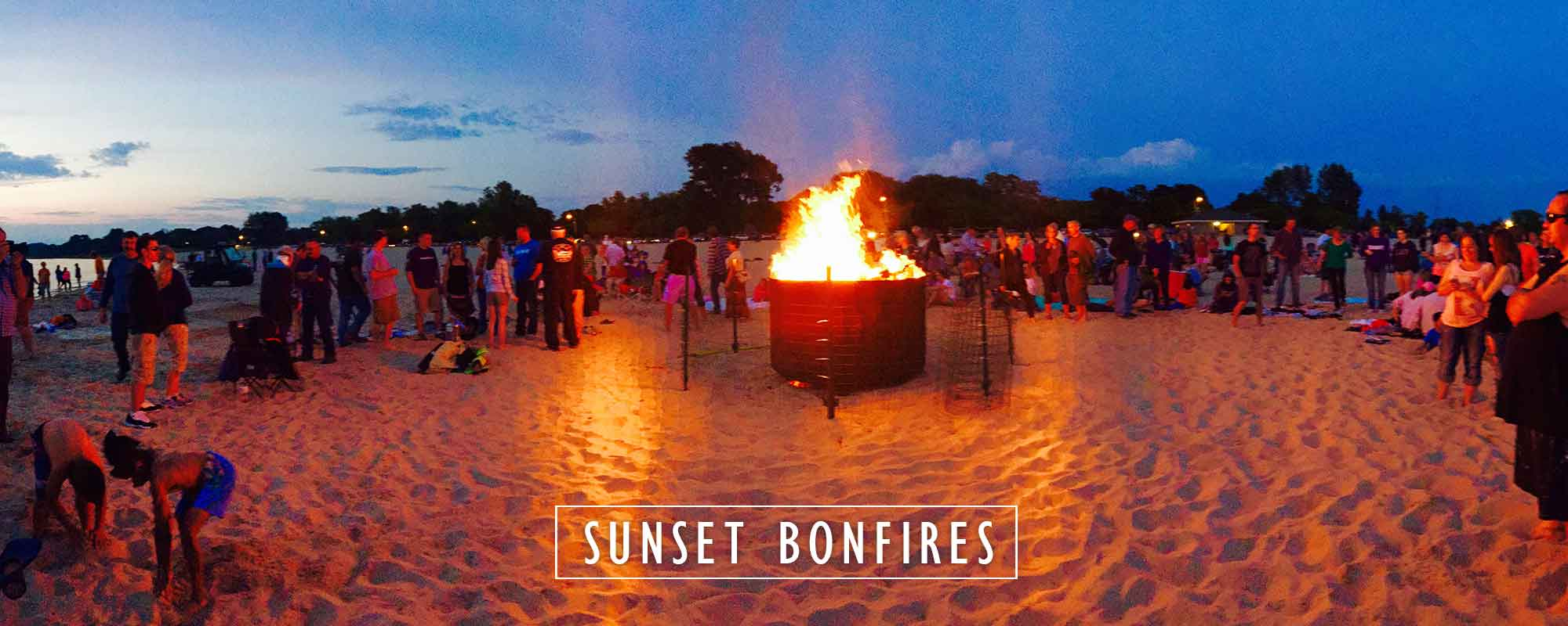 there's nothing better than a sunset beach bonfire | pure ludington